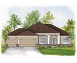 Elba-II-elevation-Stanley Homes Brevard Home Builder