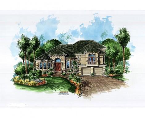 Calloway-elevation-Stanley Homes Brevard Home Builder