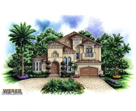 aurora-IV-elevation-Stanley Homes Brevard Home Builder