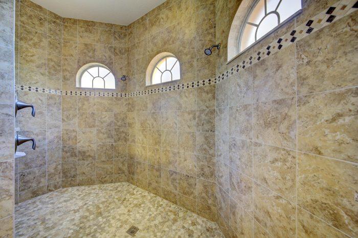 20Walk-in Tile & Stone Shower
