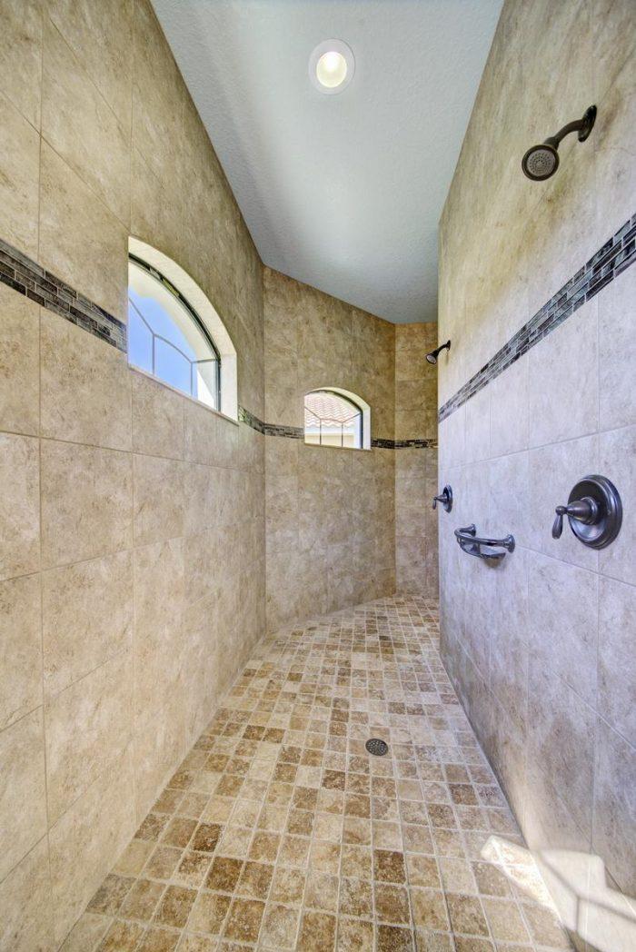 Tile Walk-Thru Shower