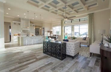Custom ceiling designs by Stanley Homes custom home builder in Brevard FL