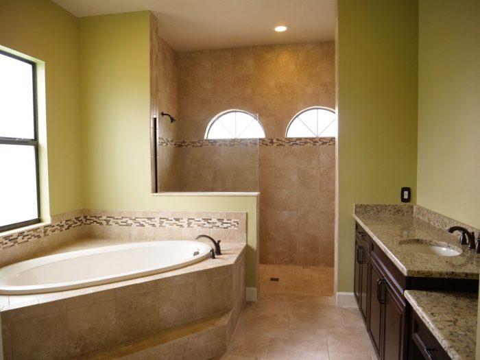 Custom Bathroom installation by Stanley Homes in Viera FL